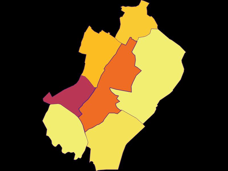 Population density in Gänserndorf