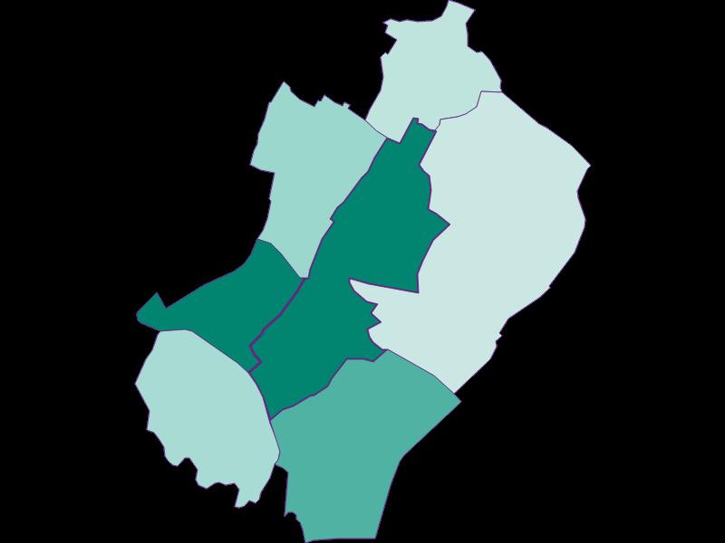 Population development since 1869 in Gänserndorf