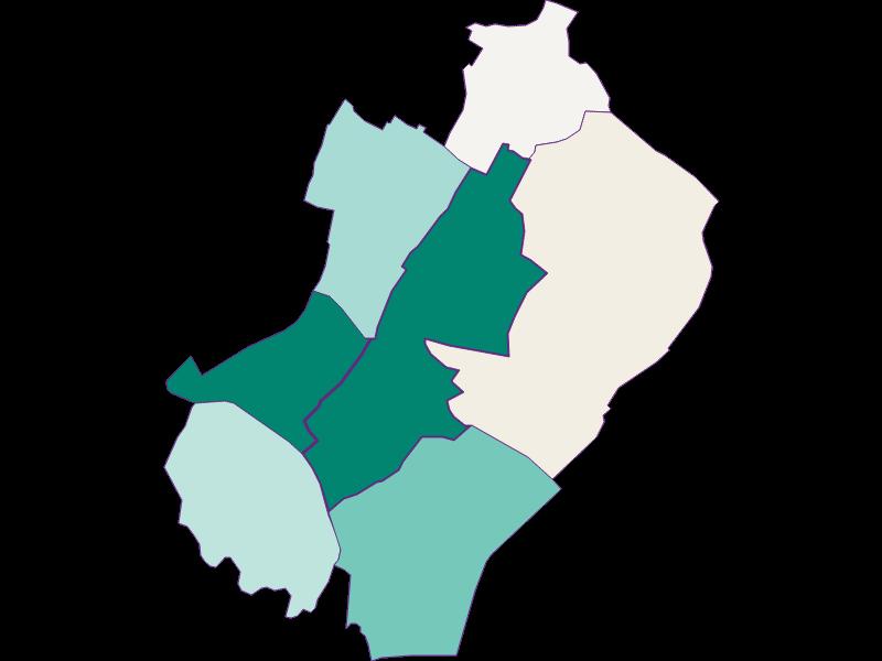 Population development since 1900 in Gänserndorf