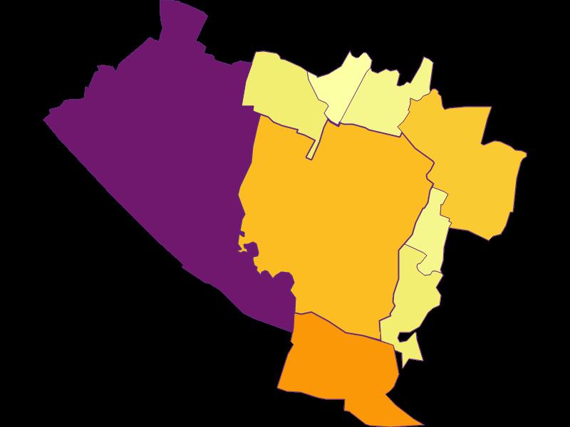 Population density in Groß-Enzersdorf