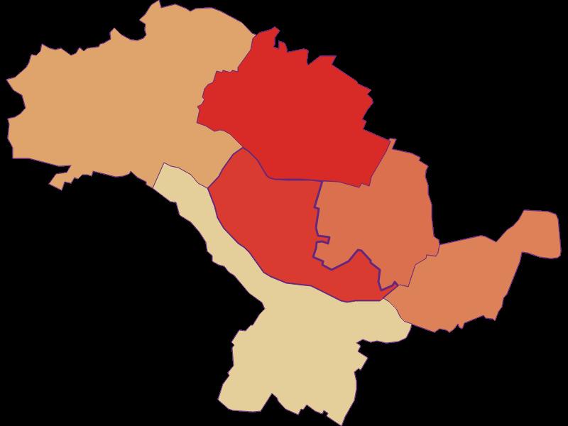 Population development since 1900 in Hohenruppersdorf