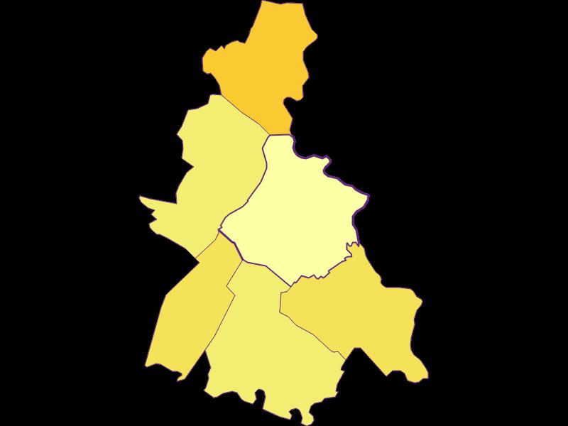 Bevölkerungsdichte in Weiden an der March