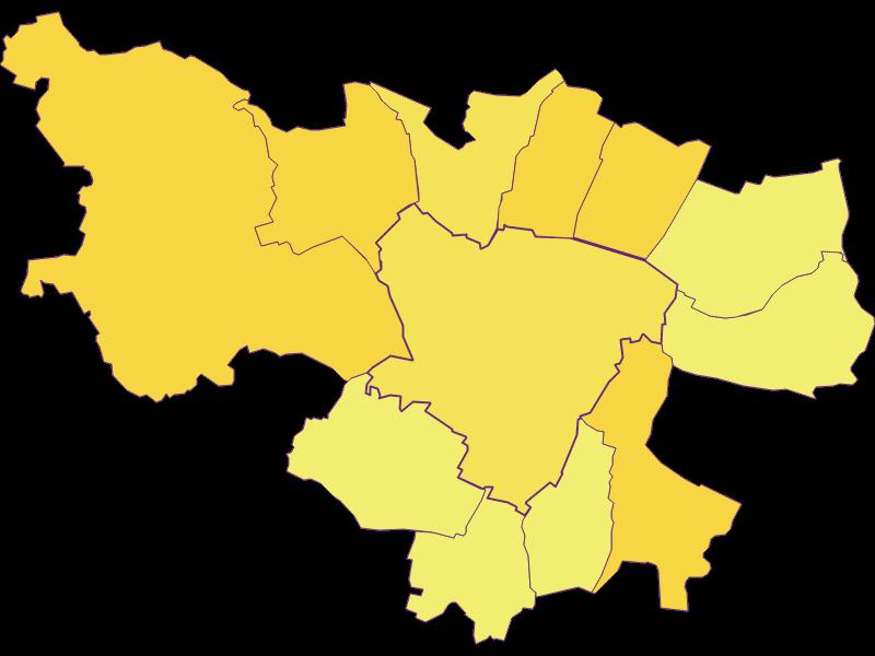 Плотность населения в Zistersdorf