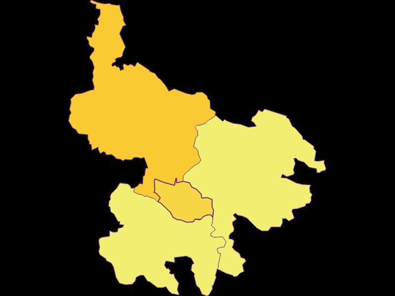 Population density in Hirschbach