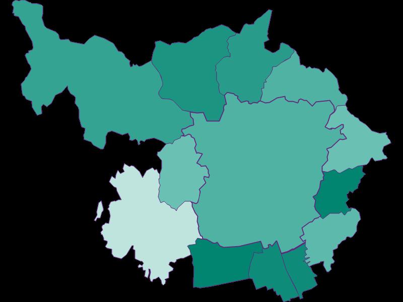 Population development since 1869 in Graz