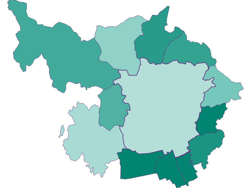 Population development since 1900 in Graz