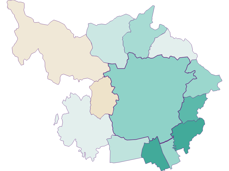 Population development since 2011 in Graz