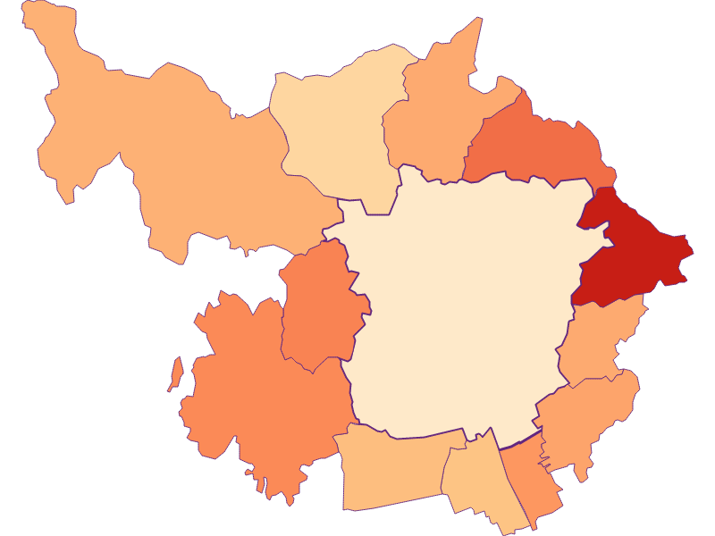 Household size in Graz