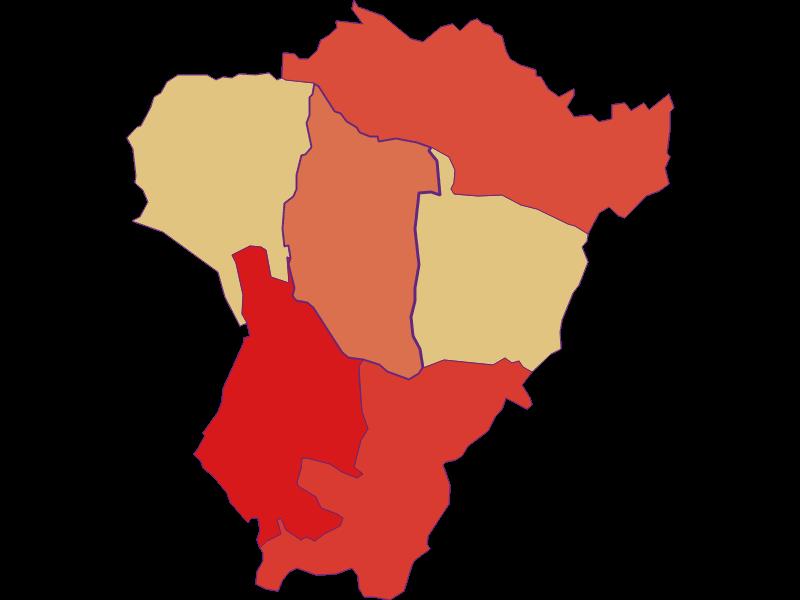 Population development since 1900 in Neuberg im Burgenland