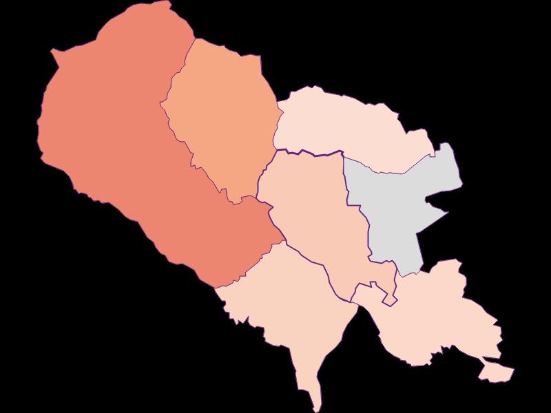Bevölkerungsaktivität in Hartberg Umgebung