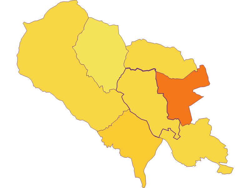Bevölkerungsdichte in Hartberg Umgebung