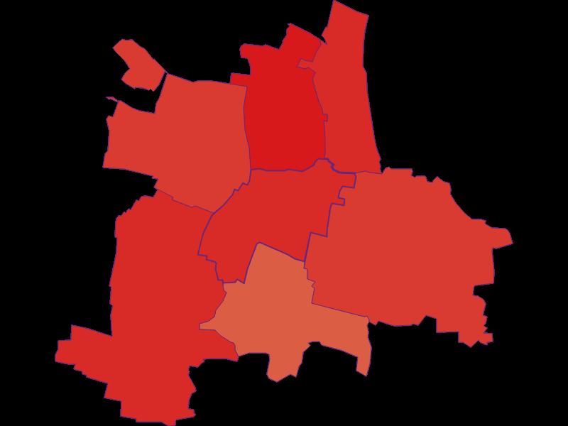Population development since 1869 in Guntersdorf