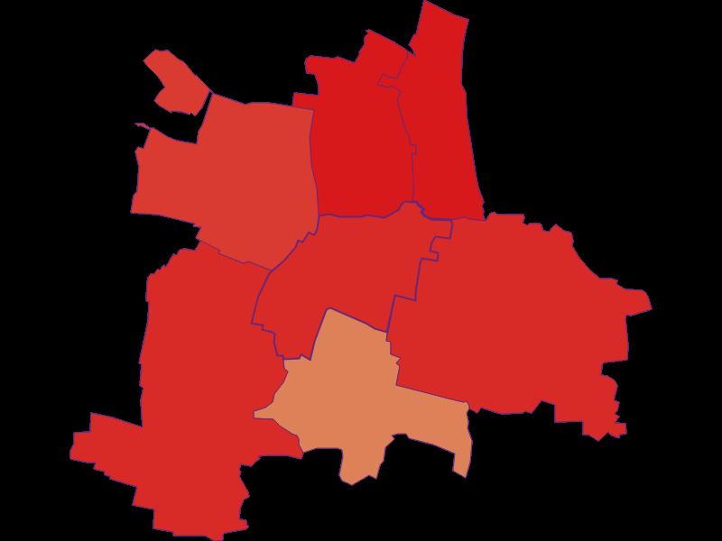 Population development since 1900 in Guntersdorf