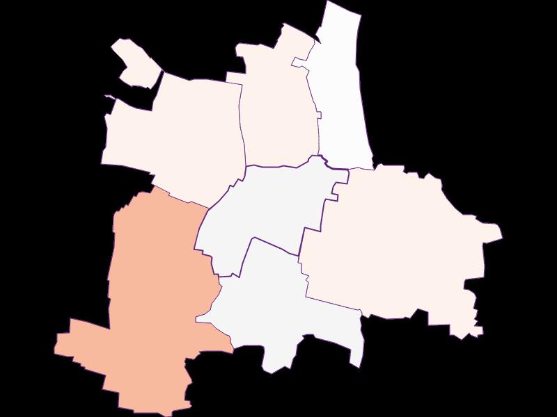 Farmers (comparison to federal state) in Guntersdorf