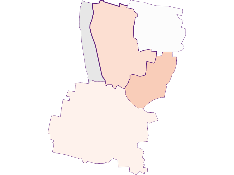 Farmers (comparison to federal state) in Hadres