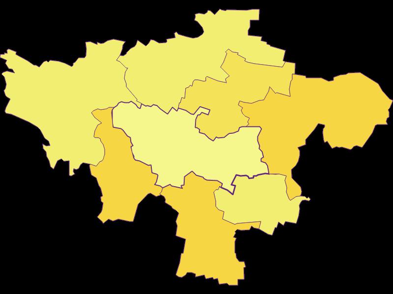 Плотность населения в Hohenwarth-Mühlbach a.M.