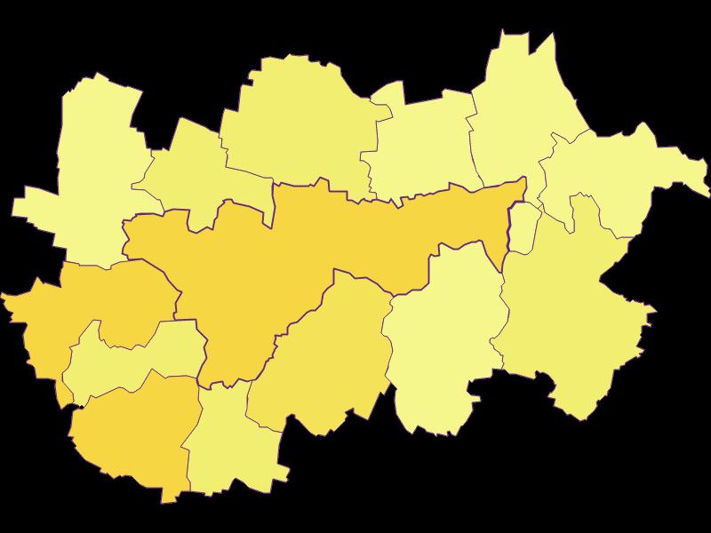 Population density in Hollabrunn