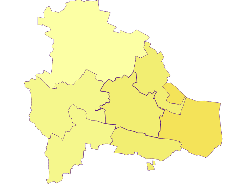 Плотность населения в Pulkau