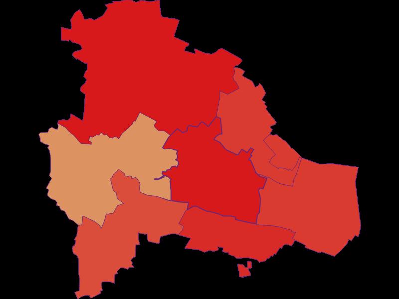 Population development since 1869 in Pulkau