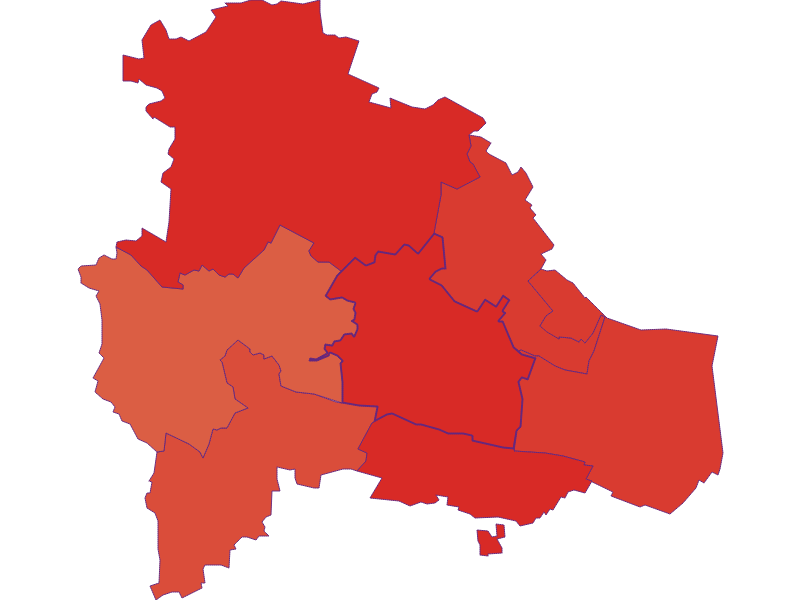 Population development since 1900 in Pulkau