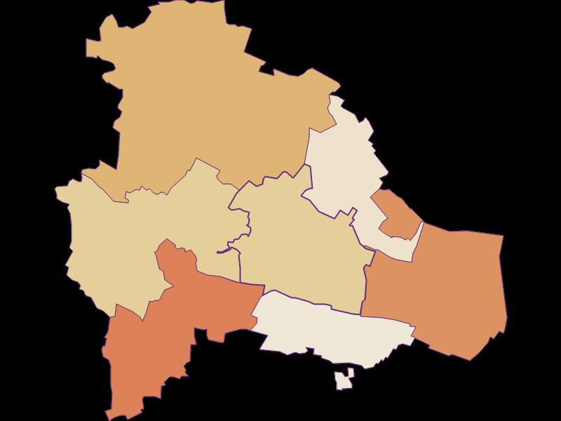 Population development since 2011 in Pulkau