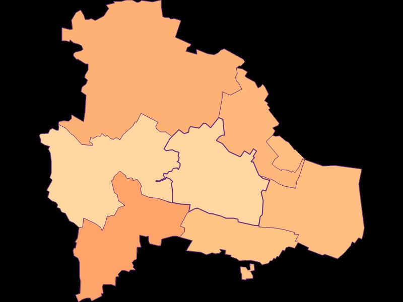 Размер домохозяйства в Pulkau