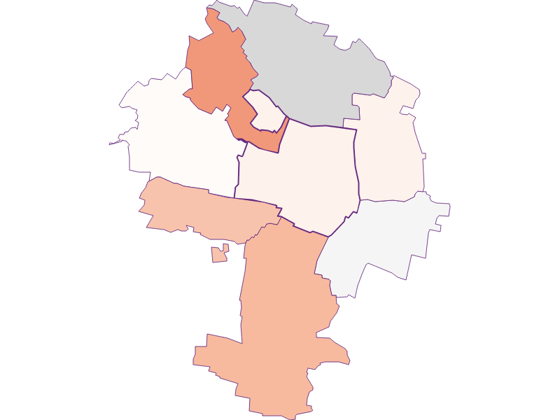 Farmers (comparison to federal state) in Zellerndorf