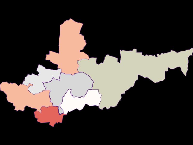 Farmers (comparison to federal state) in Ziersdorf