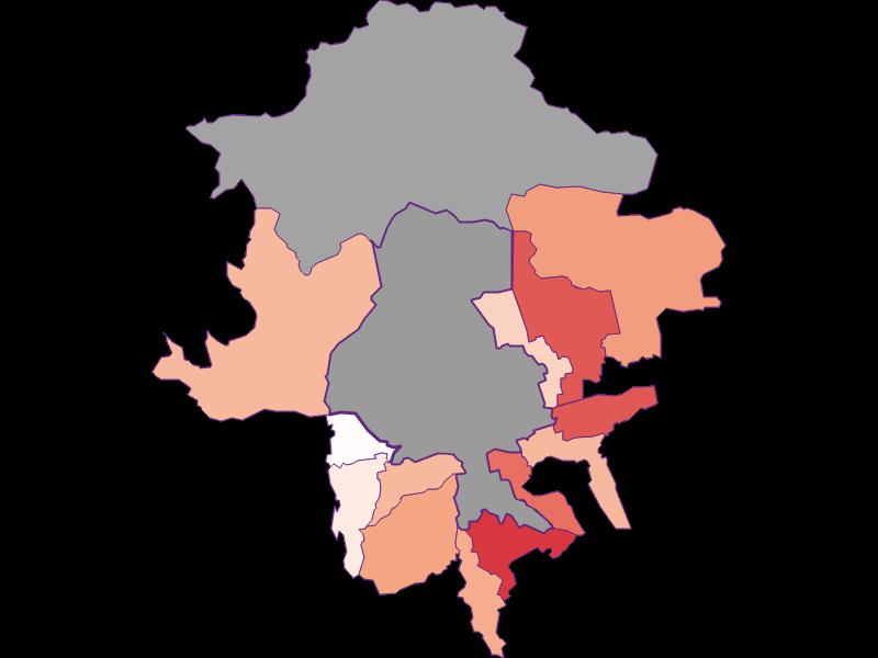 Activity rate in Innsbruck