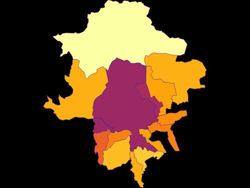 Population density in Innsbruck
