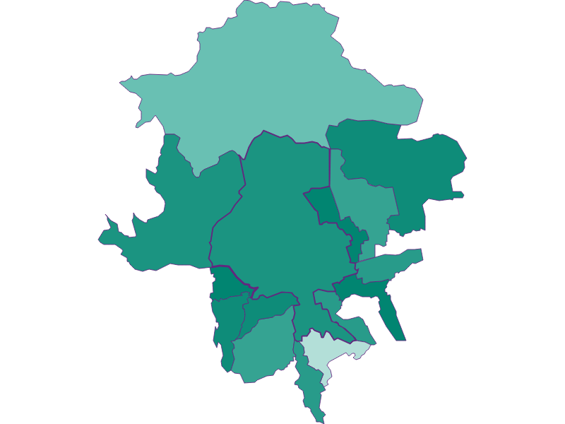 Population development since 1869 in Innsbruck