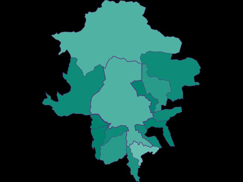 Population development since 1900 in Innsbruck