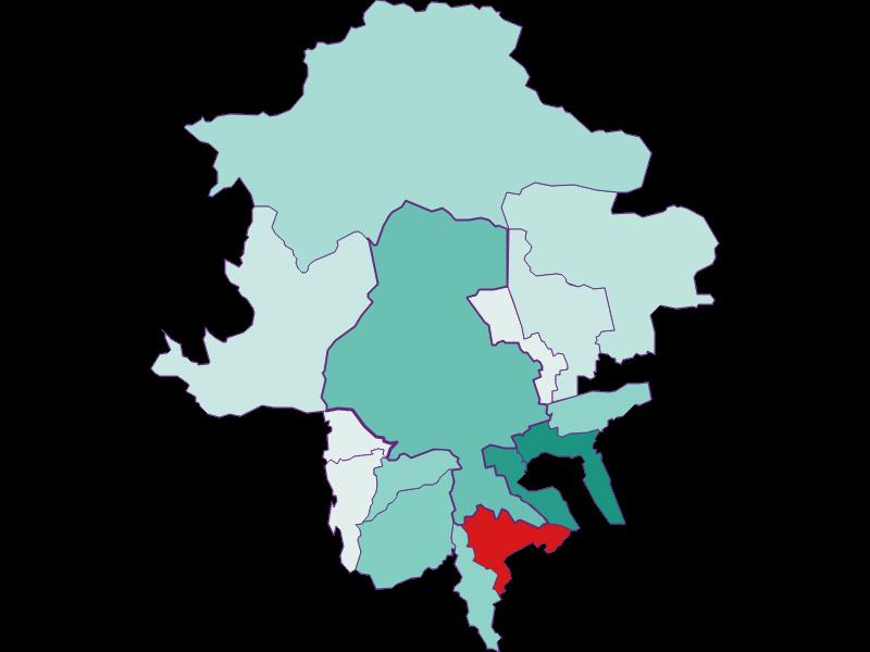 Population development since 2011 in Innsbruck