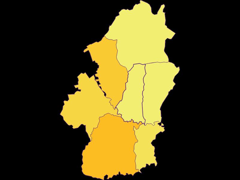 Population density in Königsdorf