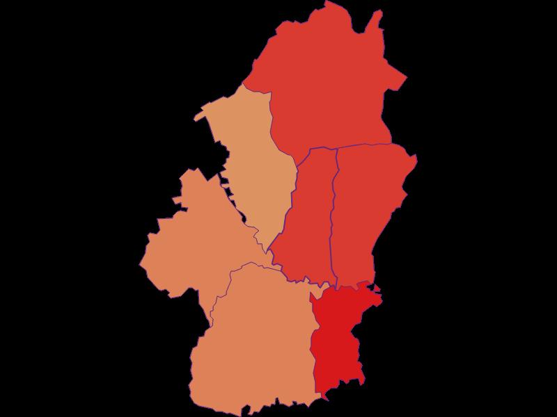 Population development since 1900 in Königsdorf