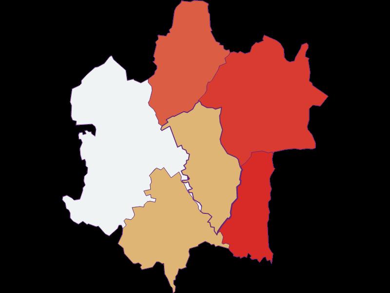 Population development since 1869 in Rudersdorf