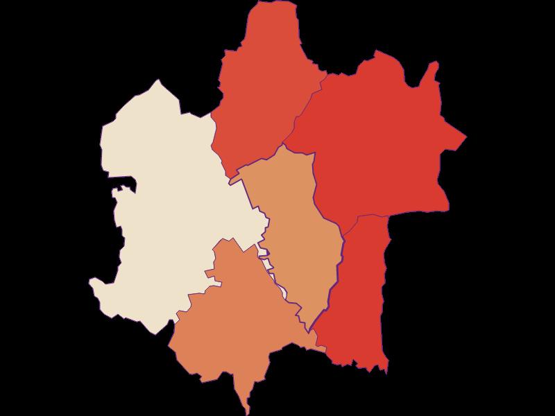 Population development since 1900 in Rudersdorf
