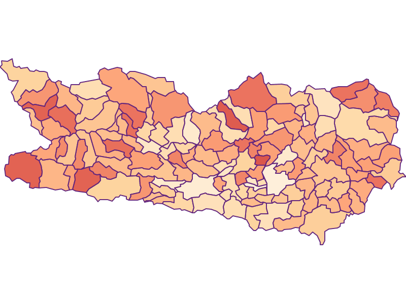 Размер домохозяйства в Kärnten