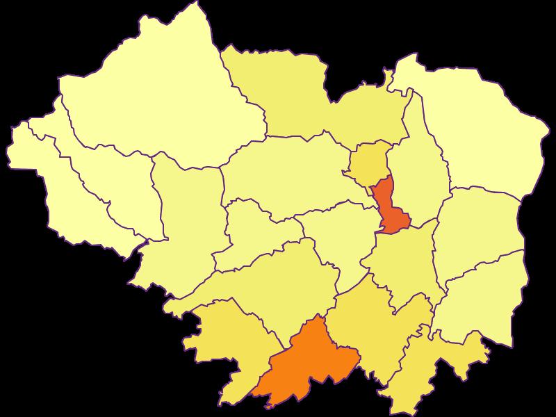 Population density in Sankt Veit an der Glan