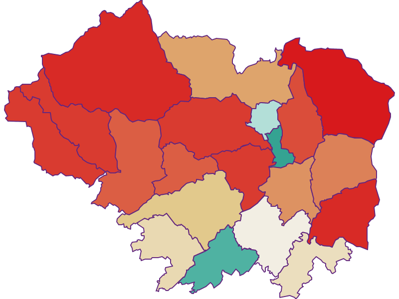 Population development since 1869 in Sankt Veit an der Glan
