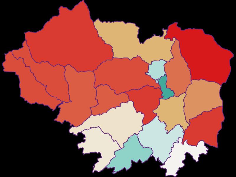 Population development since 1900 in Sankt Veit an der Glan