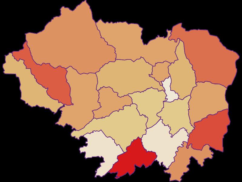 Population development since 2011 in Sankt Veit an der Glan