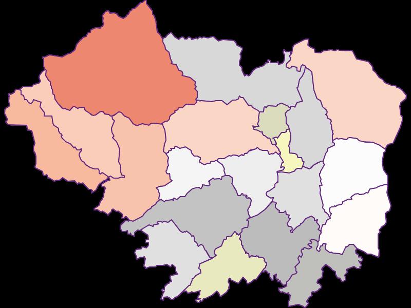 Farmers (comparison to federal state) in Sankt Veit an der Glan