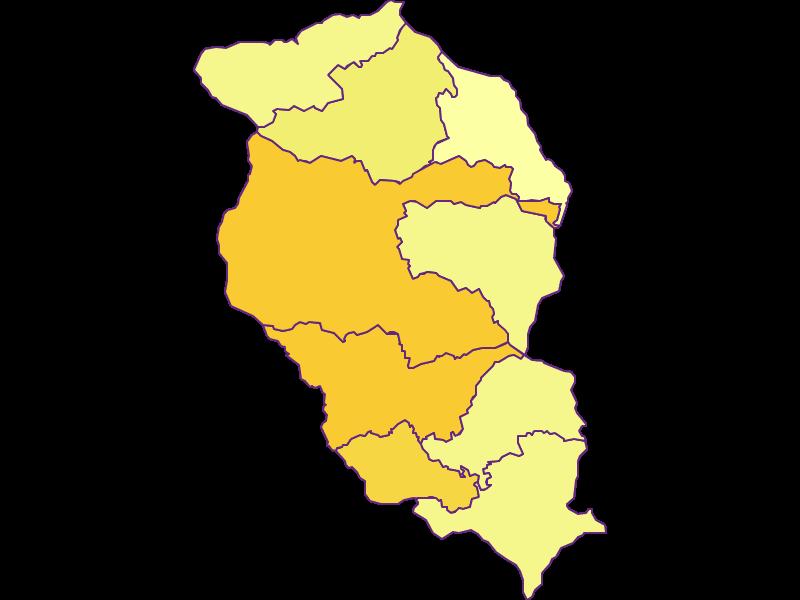 Population density in Wolfsberg