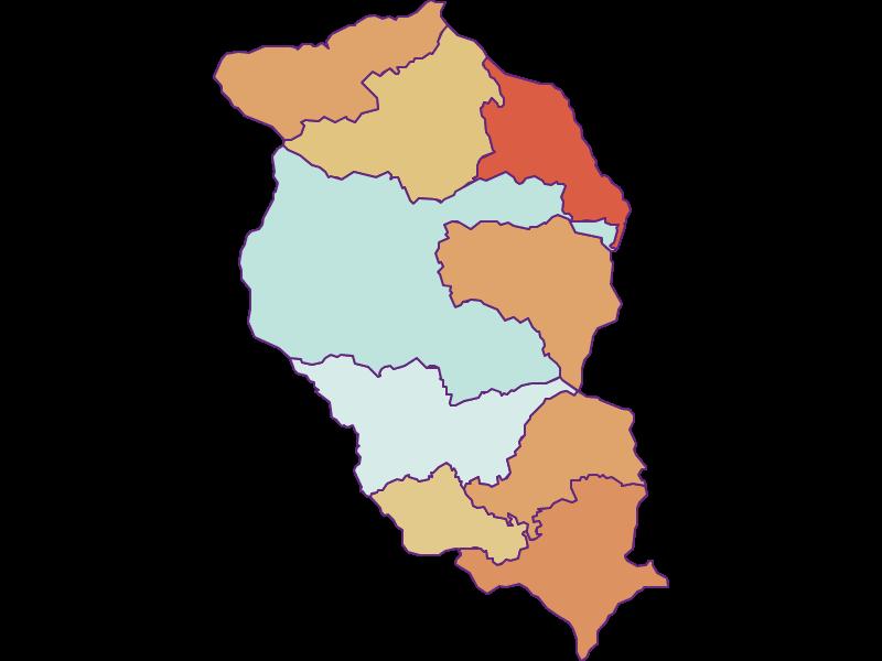 Population development since 1900 in Wolfsberg