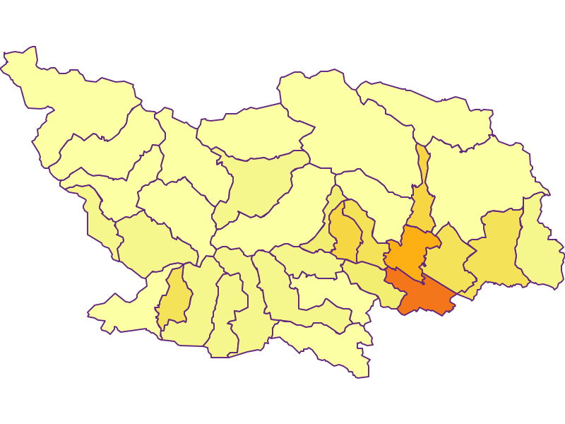 Population density in Spittal an der Drau