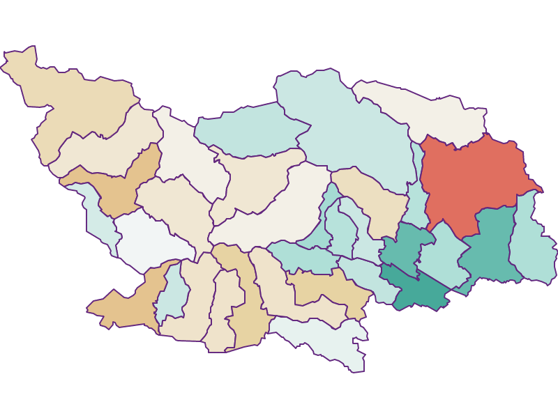 Population development since 1900 in Spittal an der Drau