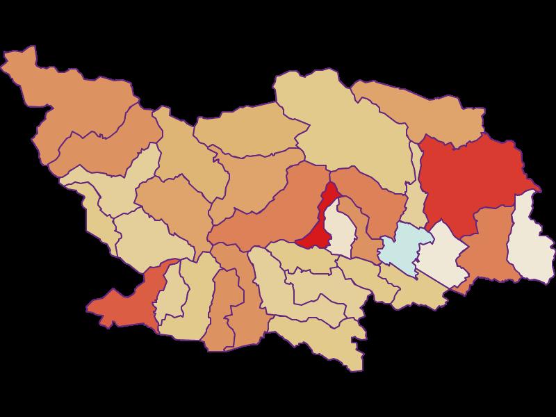 Population development since 2011 in Spittal an der Drau