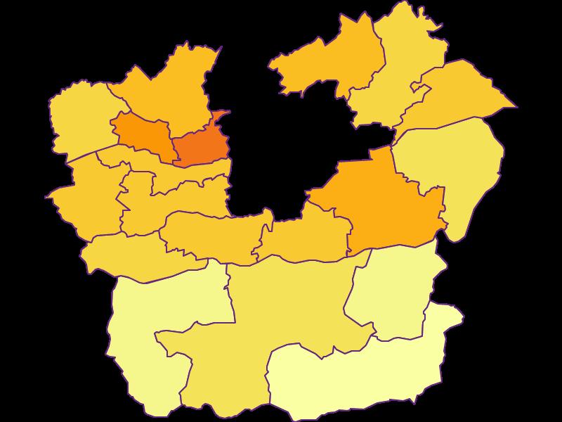 Плотность населения в Klagenfurt Land