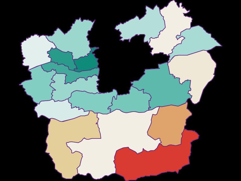 Демография с 1869 года в Klagenfurt Land